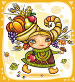 Thanksgiving theme 13 — Vector de stock