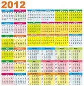 Coloratissimi calendari per il 2012 — Vettoriale Stock