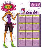 2012 fashion calendar — Stock Vector