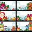 Stock Vector: Colorful Christmas cards series