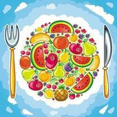 Fruity planet — Stock Vector