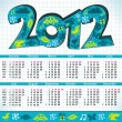 2012 New Year calendar — Stockvektor