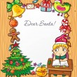 Letter to Santa Claus 6 — Stockvektor