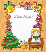 Letter to Santa Claus 6 — Stock Vector
