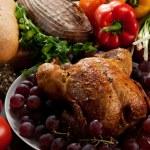 Roasted stuffed holiday turkey — Stock Photo #7505331