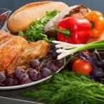 Roasted stuffed holiday turkey — Stock Photo #7505350