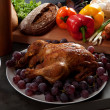 Stock Photo: Roasted stuffed holiday turkey
