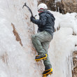 Stock Photo: Mwith ice axes and crampons
