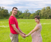 Husband with his pregnant wife — Stock Photo