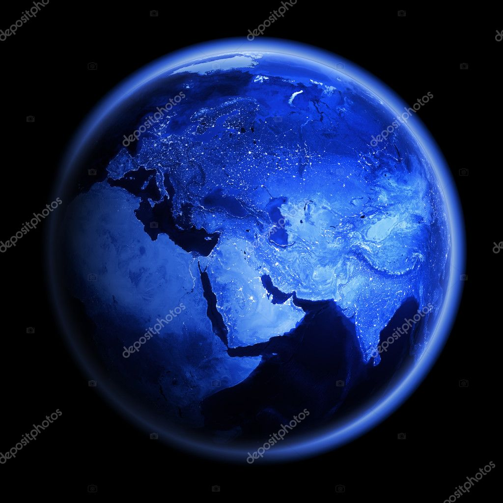 Planet Earth. Earth space model, maps courtesy of NASA — Stock Photo #6938734