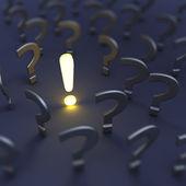Frågor och svar — Stockfoto