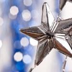 银色星 — 图库照片