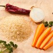 Rice and vegetables — Foto de Stock