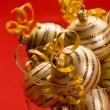 Golden christams ball — Stock Photo