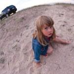 Little girl on the beach — Stock Photo #7943384