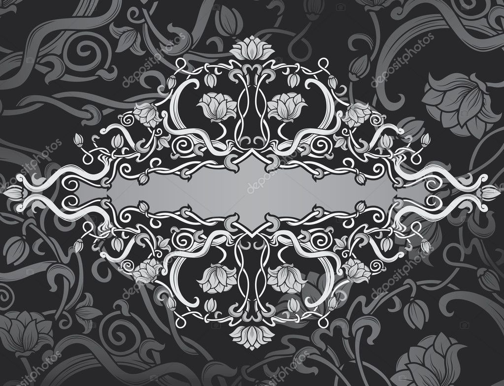 Revival ornate frame background. vintage banner — Stok Vektör #7164712