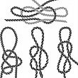 Seknot set stencil — Vector de stock #7787436