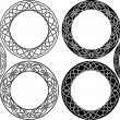 Celtic circle set - Stock Vector