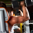 Man in the gym - Stockfoto