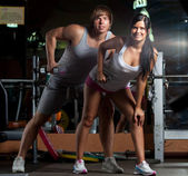 Couple at GYM — Stock Photo