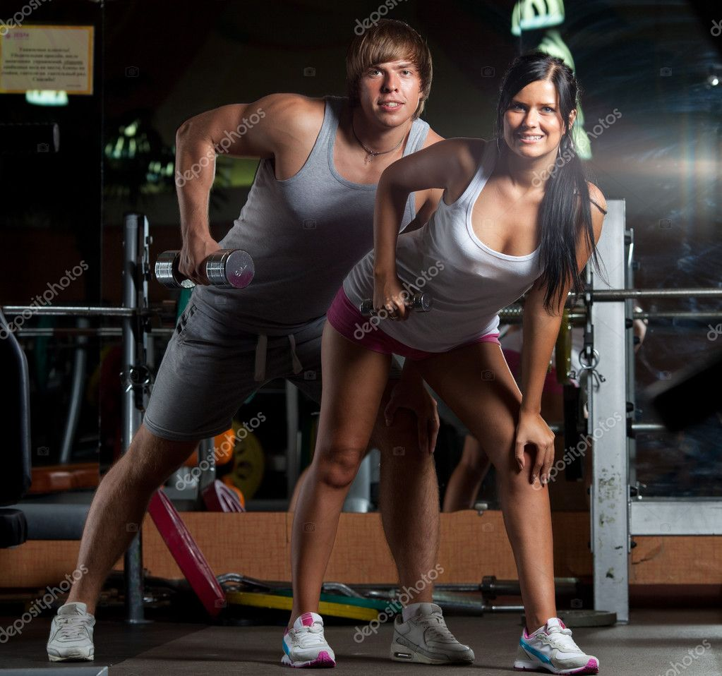 Couple at GYM — Stock Photo #6806308