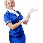 Beautiful stewardess. — Stock Photo