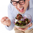 Man and salad — Stock Photo #6814198