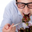 Stock Photo: Man and salad