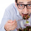 Man and salad — Stock Photo #6814202