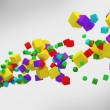 Royalty-Free Stock Photo: Colorful 3d abstract cubes