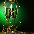 Stock Photo: Pair glass of champagne