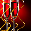 Pair glass of champagne — Stock Photo #7635344