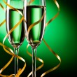 Pair glass of champagne — Stock Photo #7635350
