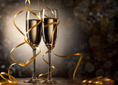 シャンパン グラス ペア — ストック写真