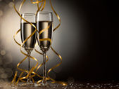 Paar glas champagne — Stockfoto