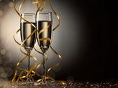 双杯香槟 — 图库照片