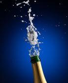 Garrafa de champanhe de abertura — Fotografia Stock