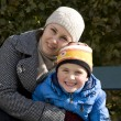 Mum with the son in park - Stock Photo