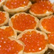 Tartlets with red caviar — Stock Photo #7279765