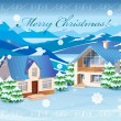 Christmas rural landscape - Stock Vector