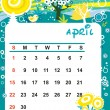 Decorative Frame for calendar - April — Stock Vector