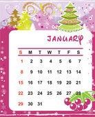 Decorative Frame for calendar - July — Vector de stock