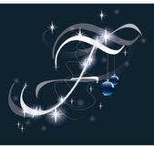 Decorative letter for Christmas design — Stock Vector