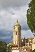 Tower a cathedral in Segovia — Stock Photo