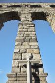 Akvedukten i den spanska segovia — Stockfoto