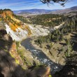 The well-known Yellowstone national park — Stock Photo