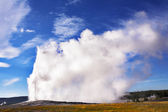 The well-known of the world geyser — Stock Photo