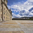 The area and stately royal palace — Foto Stock
