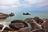 Picturesque coastal cliffs. Koh Samui — Stock Photo