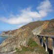 Viaduct  on Pacific coast — Stock Photo